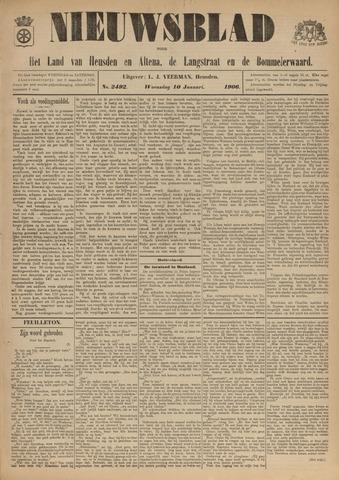 Nieuwsblad het land van Heusden en Altena de Langstraat en de Bommelerwaard 1906-01-10