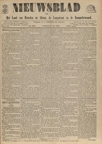 Nieuwsblad het land van Heusden en Altena de Langstraat en de Bommelerwaard 1903-10-28