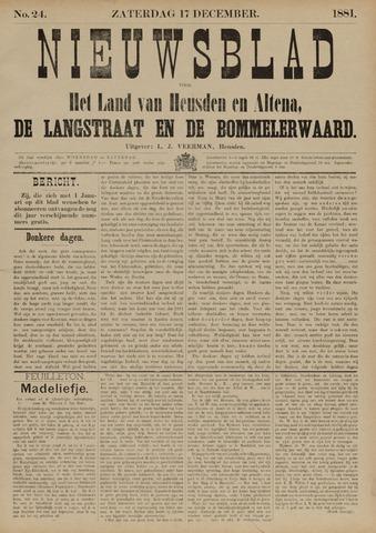 Nieuwsblad het land van Heusden en Altena de Langstraat en de Bommelerwaard 1881-12-17