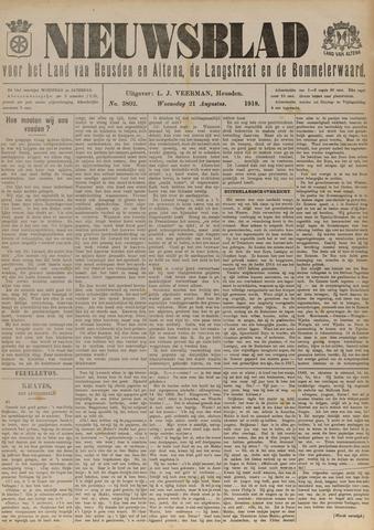 Nieuwsblad het land van Heusden en Altena de Langstraat en de Bommelerwaard 1918-08-21