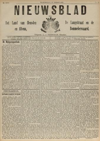 Nieuwsblad het land van Heusden en Altena de Langstraat en de Bommelerwaard 1892-02-17