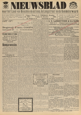 Nieuwsblad het land van Heusden en Altena de Langstraat en de Bommelerwaard 1928-12-14