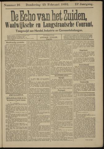 Echo van het Zuiden 1892-02-25