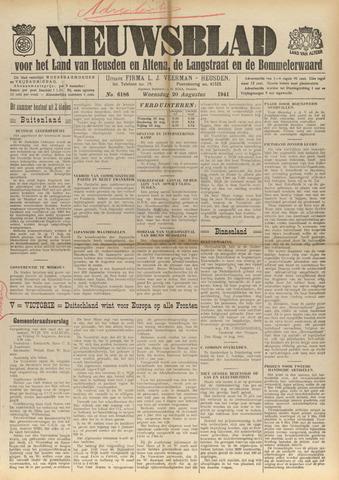 Nieuwsblad het land van Heusden en Altena de Langstraat en de Bommelerwaard 1941-08-20