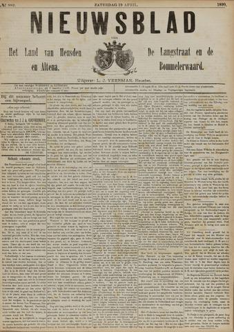 Nieuwsblad het land van Heusden en Altena de Langstraat en de Bommelerwaard 1890-04-19