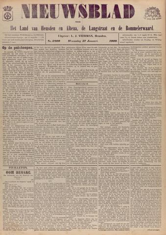 Nieuwsblad het land van Heusden en Altena de Langstraat en de Bommelerwaard 1909-01-27