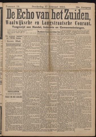 Echo van het Zuiden 1916-02-17