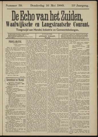 Echo van het Zuiden 1889-05-16