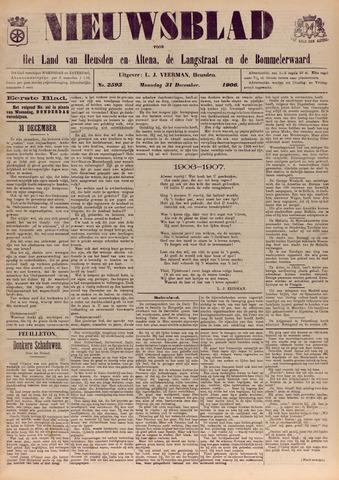 Nieuwsblad het land van Heusden en Altena de Langstraat en de Bommelerwaard 1906-12-31