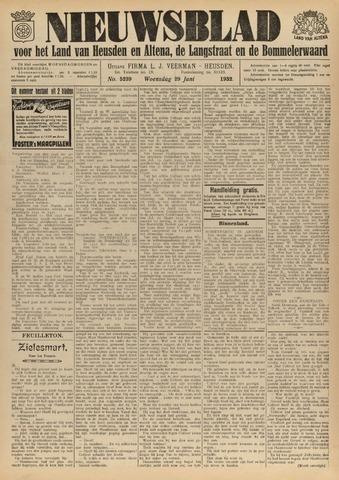 Nieuwsblad het land van Heusden en Altena de Langstraat en de Bommelerwaard 1932-06-29