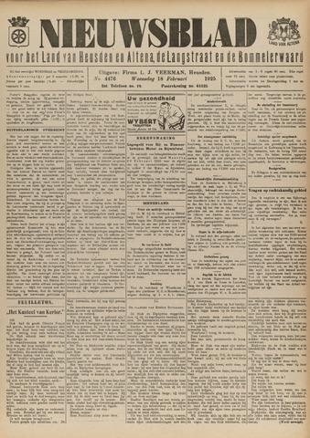 Nieuwsblad het land van Heusden en Altena de Langstraat en de Bommelerwaard 1925-02-18