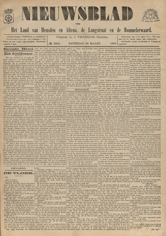 Nieuwsblad het land van Heusden en Altena de Langstraat en de Bommelerwaard 1903-03-28