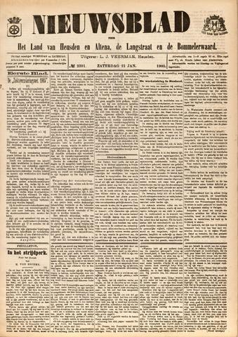 Nieuwsblad het land van Heusden en Altena de Langstraat en de Bommelerwaard 1905-01-21