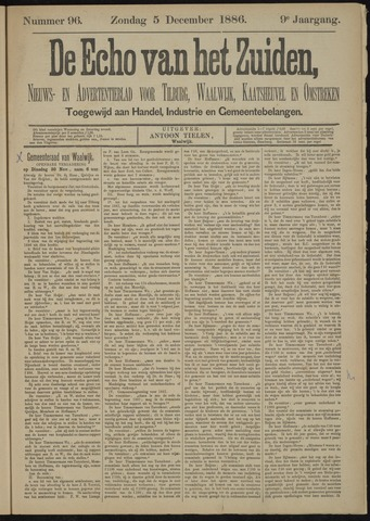 Echo van het Zuiden 1886-12-05