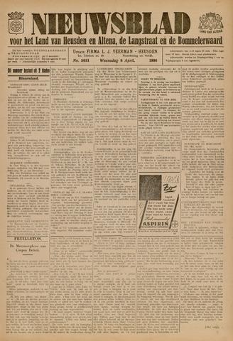 Nieuwsblad het land van Heusden en Altena de Langstraat en de Bommelerwaard 1936-04-08