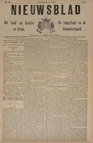 Nieuwsblad het land van Heusden en Altena de Langstraat en de Bommelerwaard 1888-06-13