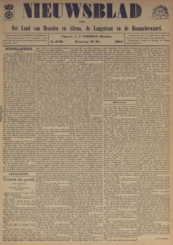 Nieuwsblad het land van Heusden en Altena de Langstraat en de Bommelerwaard 1908-05-13