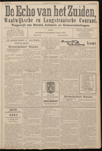 Echo van het Zuiden 1937-11-10