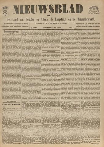 Nieuwsblad het land van Heusden en Altena de Langstraat en de Bommelerwaard 1903-02-11