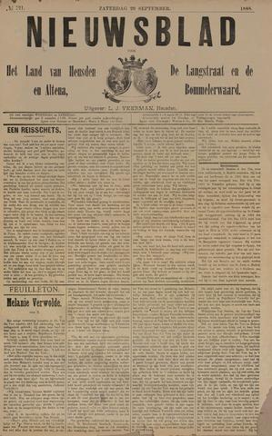 Nieuwsblad het land van Heusden en Altena de Langstraat en de Bommelerwaard 1888-09-29