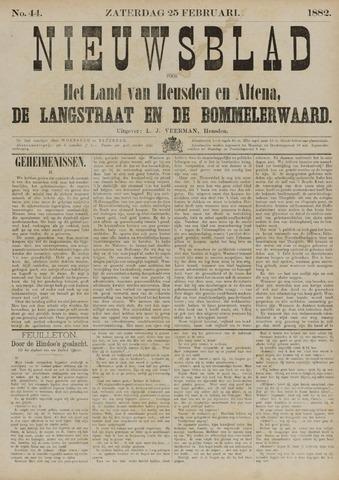 Nieuwsblad het land van Heusden en Altena de Langstraat en de Bommelerwaard 1882-02-25