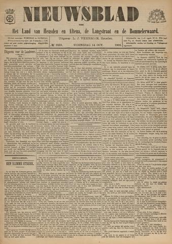 Nieuwsblad het land van Heusden en Altena de Langstraat en de Bommelerwaard 1903-10-14