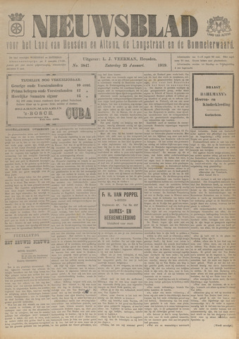 Nieuwsblad het land van Heusden en Altena de Langstraat en de Bommelerwaard 1919-01-25