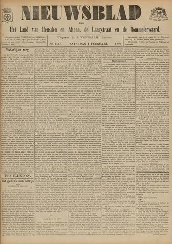 Nieuwsblad het land van Heusden en Altena de Langstraat en de Bommelerwaard 1896-02-01