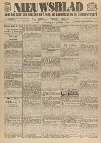 Nieuwsblad het land van Heusden en Altena de Langstraat en de Bommelerwaard 1932-09-21