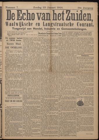 Echo van het Zuiden 1916-01-23