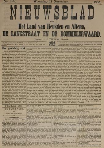 Nieuwsblad het land van Heusden en Altena de Langstraat en de Bommelerwaard 1885-11-11