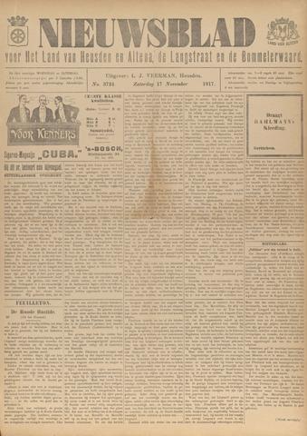 Nieuwsblad het land van Heusden en Altena de Langstraat en de Bommelerwaard 1917-11-17