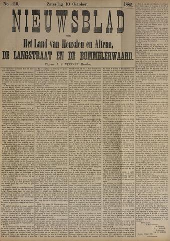 Nieuwsblad het land van Heusden en Altena de Langstraat en de Bommelerwaard 1885-10-10
