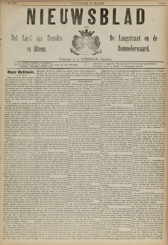 Nieuwsblad het land van Heusden en Altena de Langstraat en de Bommelerwaard 1891-03-11