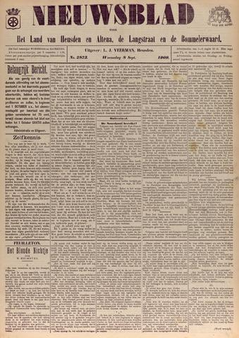 Nieuwsblad het land van Heusden en Altena de Langstraat en de Bommelerwaard 1909-09-08