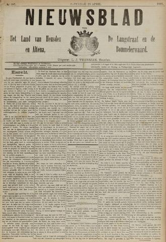 Nieuwsblad het land van Heusden en Altena de Langstraat en de Bommelerwaard 1891-04-25