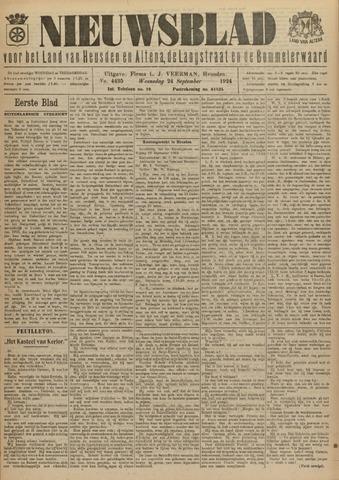 Nieuwsblad het land van Heusden en Altena de Langstraat en de Bommelerwaard 1924-09-24