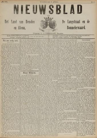 Nieuwsblad het land van Heusden en Altena de Langstraat en de Bommelerwaard 1890-04-09