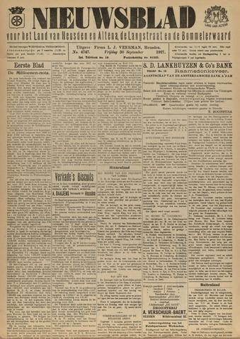 Nieuwsblad het land van Heusden en Altena de Langstraat en de Bommelerwaard 1927-09-30