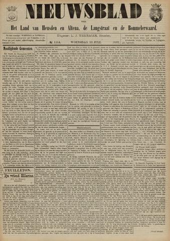 Nieuwsblad het land van Heusden en Altena de Langstraat en de Bommelerwaard 1892-07-13