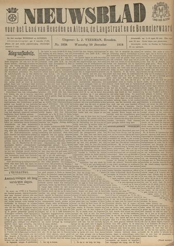 Nieuwsblad het land van Heusden en Altena de Langstraat en de Bommelerwaard 1919-12-10