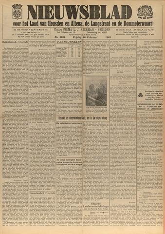 Nieuwsblad het land van Heusden en Altena de Langstraat en de Bommelerwaard 1943-02-26
