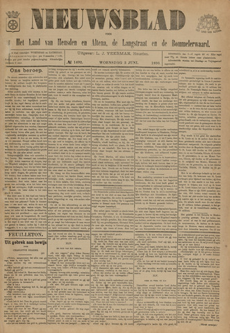 Nieuwsblad het land van Heusden en Altena de Langstraat en de Bommelerwaard 1896-06-03