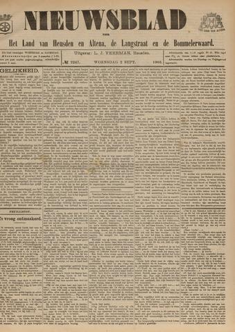 Nieuwsblad het land van Heusden en Altena de Langstraat en de Bommelerwaard 1903-09-02