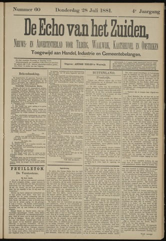 Echo van het Zuiden 1881-07-28