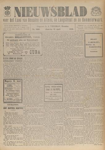 Nieuwsblad het land van Heusden en Altena de Langstraat en de Bommelerwaard 1919-04-12