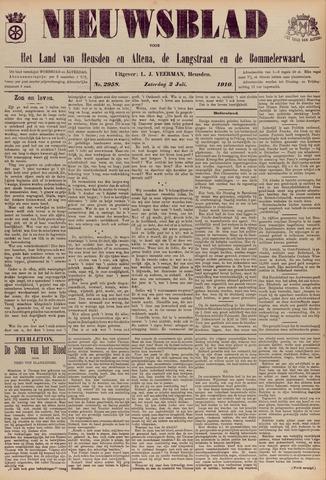 Nieuwsblad het land van Heusden en Altena de Langstraat en de Bommelerwaard 1910-07-02