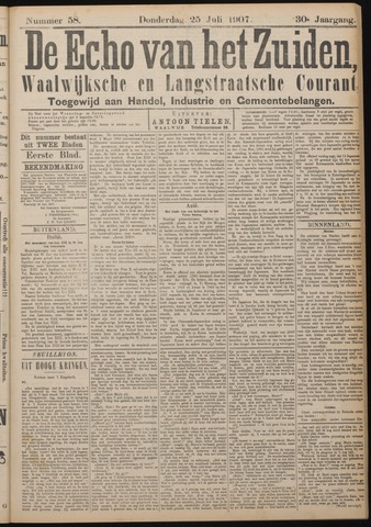 Echo van het Zuiden 1907-07-25