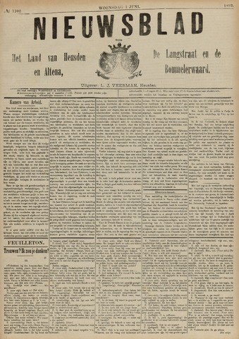 Nieuwsblad het land van Heusden en Altena de Langstraat en de Bommelerwaard 1892-06-01