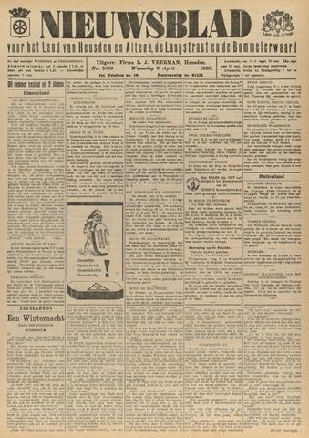 Nieuwsblad het land van Heusden en Altena de Langstraat en de Bommelerwaard 1930-04-09
